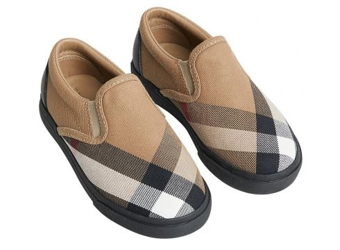 Burberry Kids baskets House Check - Tons Neutres(65471491)