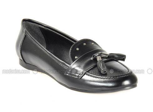 Black - Flat - Flat Shoes - Vizon(110330306)
