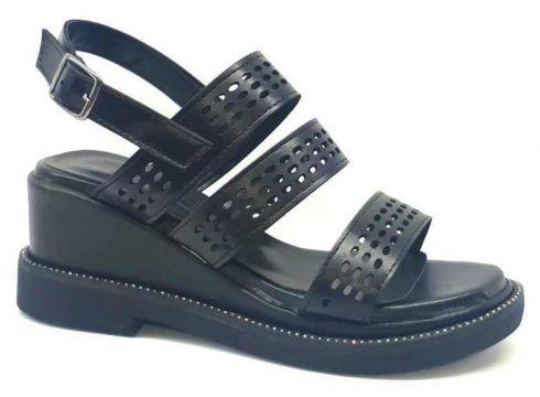Ventes Kadın Siyah Taşlı Dolgu Topuklu Sandalet 431075(118490254)