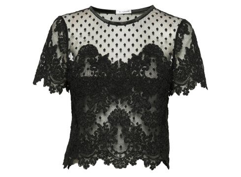 Jane Top T-Shirt Top Schwarz IDA SJÖSTEDT(98254347)