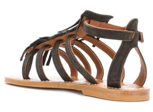 K. Jacques sandales à design de brides spartiates - Marron(76576600)