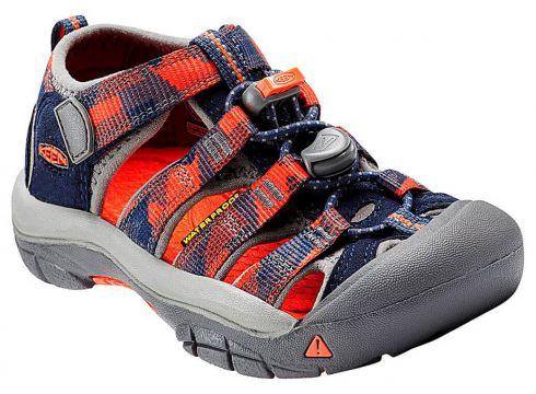 Keen Newport H2 Mavi Kırmızı Unisex Çocuk Deri Sandalet - FLO Ayakkabı(68123672)