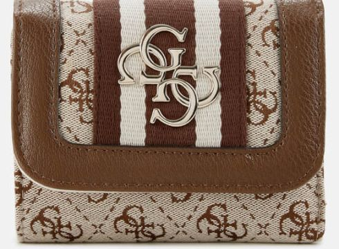 Guess Women\'s Vintage Small Trifold Wallet - Brown(78455665)