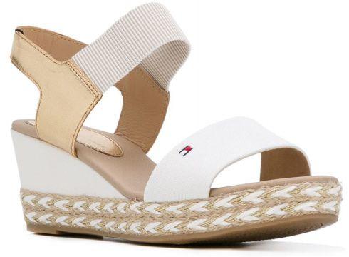 Tommy Hilfiger sandales à logo brodé - Blanc(65500002)