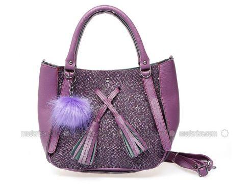 Purple - Satchel - Bag - MOON(100929075)