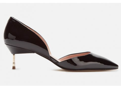 Kurt Geiger London Women\'s Bond 60 Patent Leather Kitten Heels - Black - UK 3(90304821)