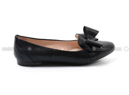 Black - Flat - Flat Shoes - Sapin(110325763)