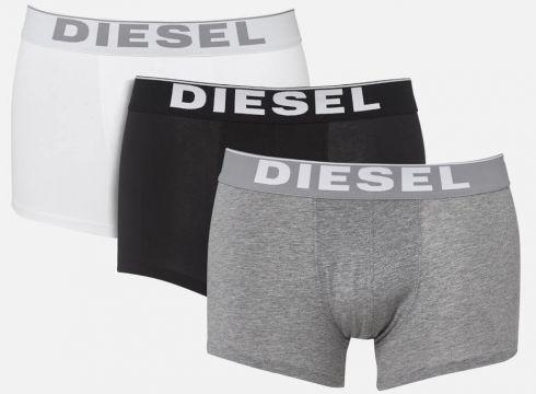 Diesel Men\'s Kory 3 Pack Boxer Shorts - Black/Grey/White - S - Bunt(50510660)