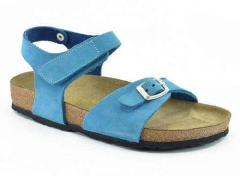 REAL Natura 323-venessa Mavi Nubuk Kız Çocuk Sandalet(116837460)