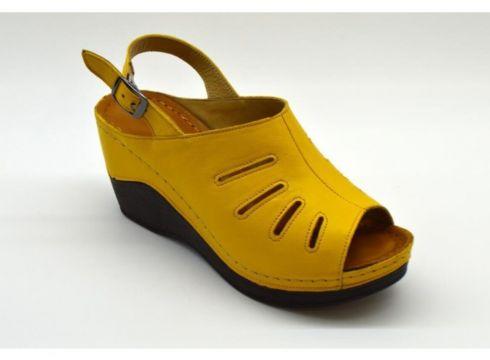 PALOMA Kadın Hardal Rengi Dolgu Topuklu Ayakkabı(124151123)