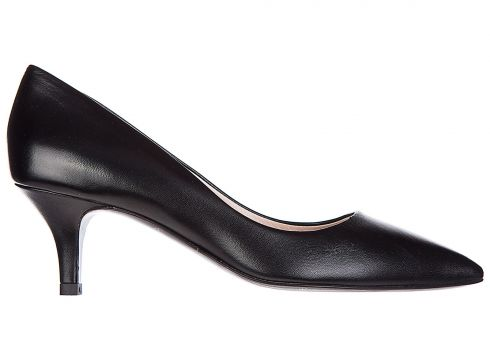 Women's leather pumps court shoes high heel(118073696)