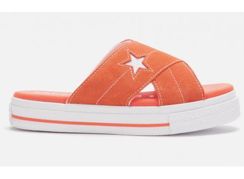Converse Women\'s One Star Sandals - Turf Orange/Egret/White - UK 3 - Orange(84128437)