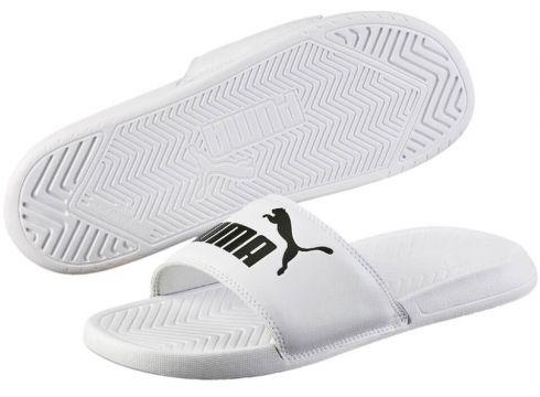 Puma Popcat Beyaz Siyah Erkek Terlik - FLO Ayakkabı(69095426)
