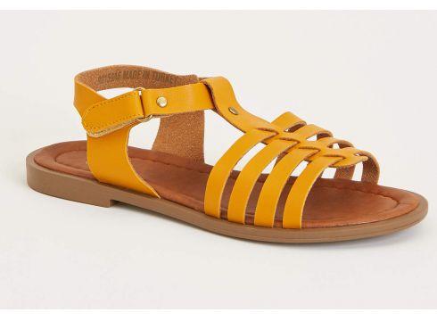 DeFacto Kız Çocuk Deri Görünümlü Sandalet(119063667)