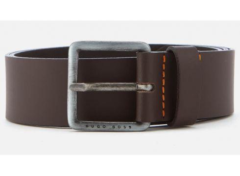 BOSS Men\'s Jeeko Leather Belt - Dark Brown - 95cm/W36(84673638)