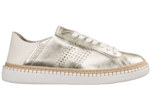 Women's shoes leather trainers sneakers h327(77309832)