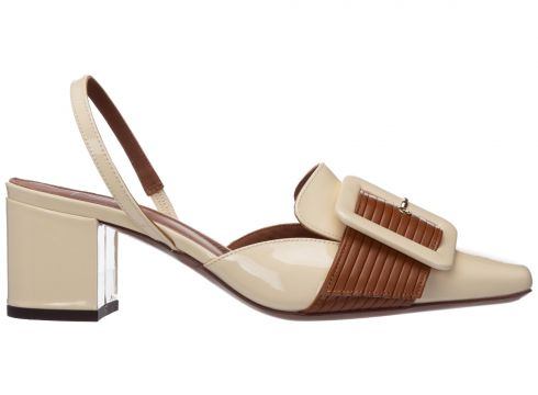 Women's leather pumps court shoes high heel(117039424)