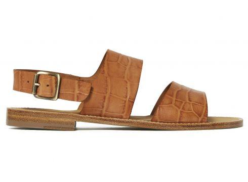 Sandalen aus Leder Croco Bernie(121020905)