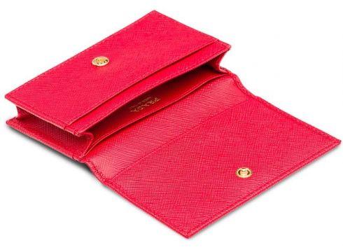 Prada Saffiano logo scardholder - Rose(76646030)