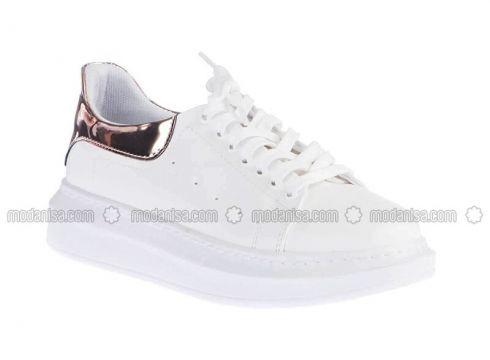 White - Pink - Sport - Sports Shoes - Pembe Potin(100929829)