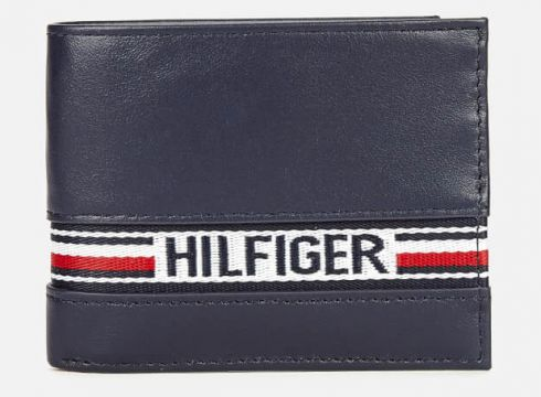 Tommy Hilfiger Men\'s Tape Card Wallet - Tommy Navy(80333648)