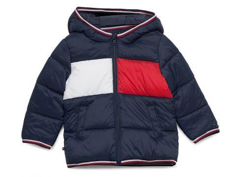 Baby Flag Puffer Jacket Gefütterte Jacke Blau TOMMY HILFIGER(117870102)