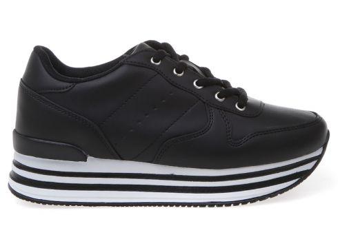 Limon Suni Deri Siyah Sneaker(113996981)