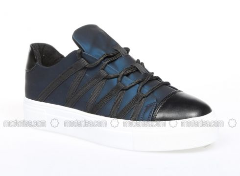 Navy Blue - Sport - Casual - Shoes - Mika Life(100924435)