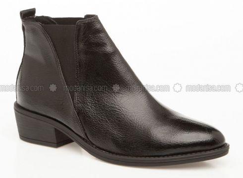 Black - Boots - DeFacto(110340096)