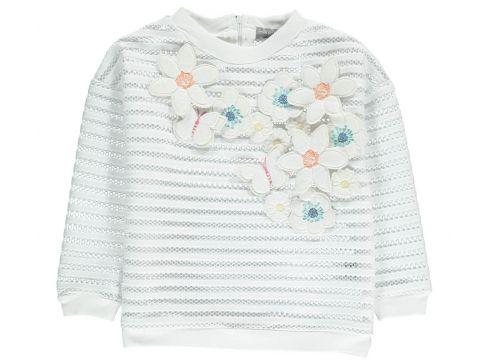Sweatshirt mit Blumenstickerei Santiago(113612195)