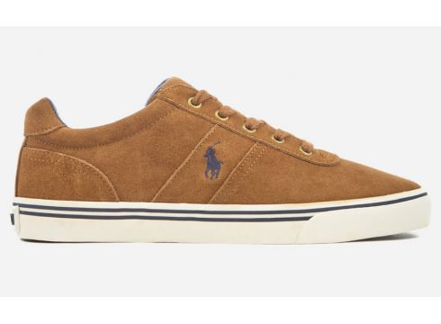 Polo Ralph Lauren Men\'s Hanford Vulcanised Suede Trainers - New Snuff - UK 7 - Tan(73245806)