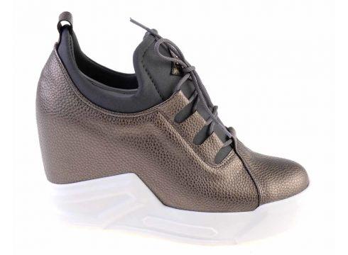 Bambi Platin Kadın Dolgu Topuklu Ayakkabı(105114656)